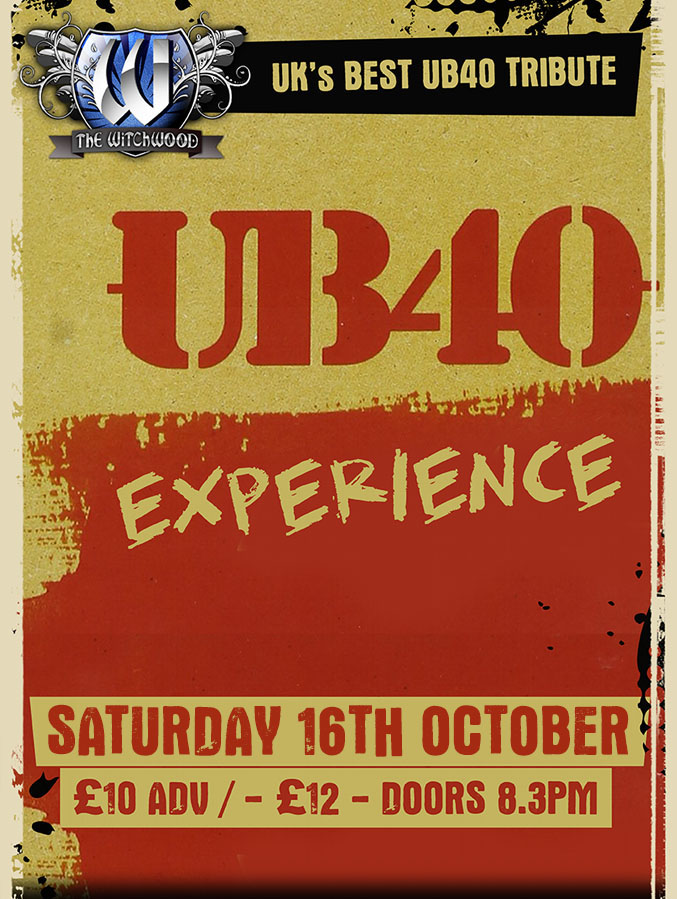 UB40 Experience - Saturday 16th October 2021 live at the witchwood