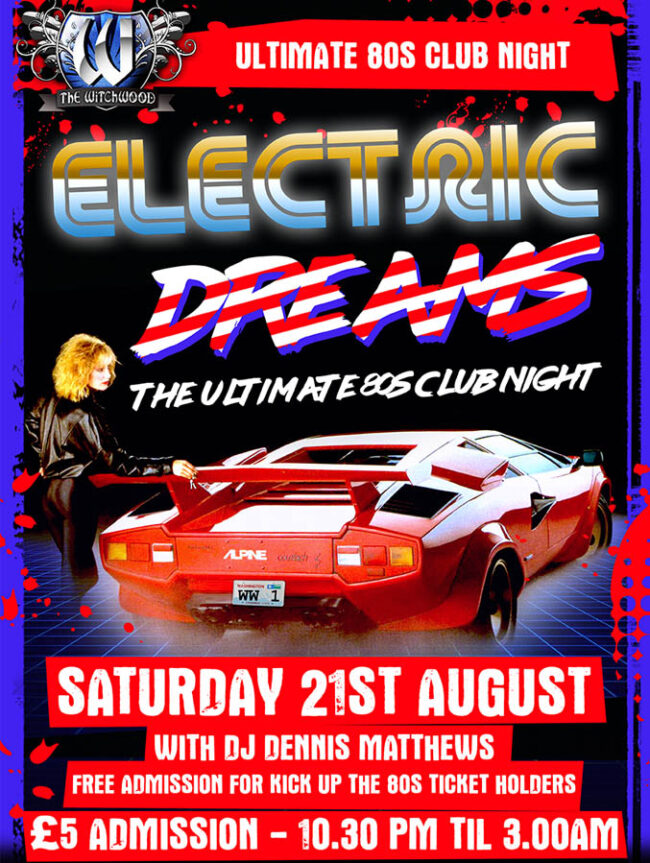 electric dreams 80s club night august 2021